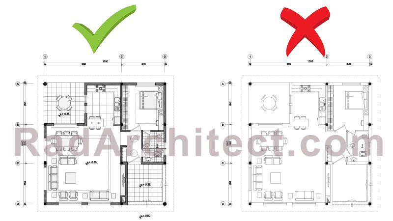 پلان معماری ساختمان مسکونی
